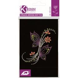 MINI STRASS/NAILS FLOWERS BUTTERFLIES 107x114