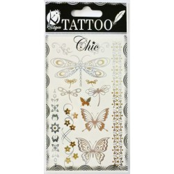 TATOO CHIC BUTTERFLIES SILVER 95x155mm