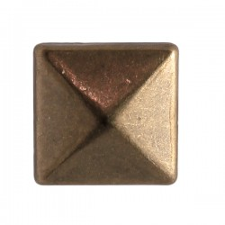 Iron on metal 6mm - 8mm - 10mm square - Copper (66 pcs)