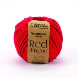 Cotton 200g Ø 2,5mm x 80m - Red