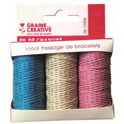 3 SPOOL CHILDHOOD HEMP CORD 3x20m