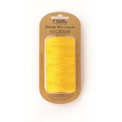 Burlap cord ? 2mm x 100m - Yellow