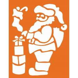 Stencil set - Father Xmas & Xmas tree