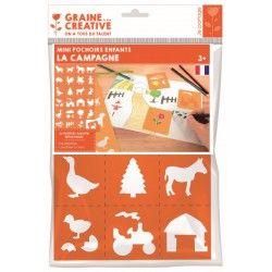 PACK OF 24 MINI 'COUNTRYSIDE' STENCILS