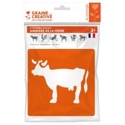 PACK OF 6 FARM ANIMALS STENCILS