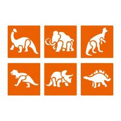Stencil - Prehistoric animals (6 pcs)