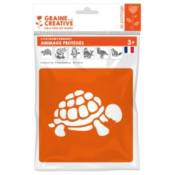 PACK OF 6 PROTECTED ANIMALS STENCILS