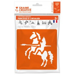 PACK OF 6 PRINCESS AND KNIGHT STENCILS