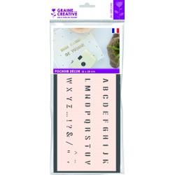 ALPHABET CAPITAL LETTERS N°2 12X20 DECORATIVE STENCIL