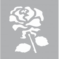 Mini stencil 8cm x 8cm - Rose