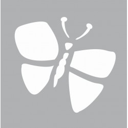 Mini stencil 8cm x 8cm - Butterfly
