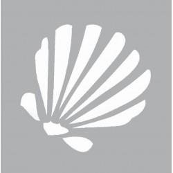 Mini stencil 8cm x 8cm - Seashell