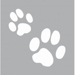 Mini stencil 8cm x 8cm - Cat's paws