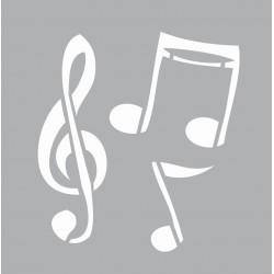 Mini stencil 8cm x 8cm - Music