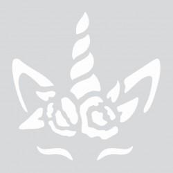 Mini stencil 8cm x 8cm - Unicorn