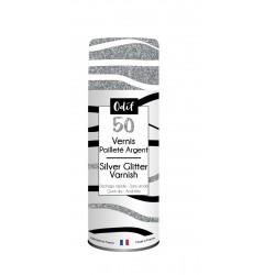SILVER GLITTER SPRAY VARNISH 125 ML