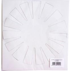Carton cards ⌀ 20mm - Basket (10 pcs)
