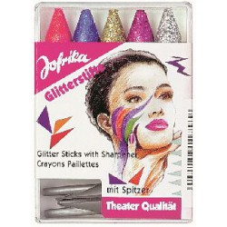 PACK OF 5 GLITTER COLOUR PENCILS