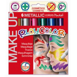 6 POCKET METALLIC STICKS OF 5 GR OF ASSORTED COLOURS