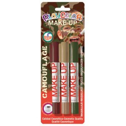 3 CAMOUFLAGE MAKE UP STICKS BLISTER