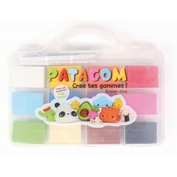 Patagom plastic case 12 x 25g - Assort. colors