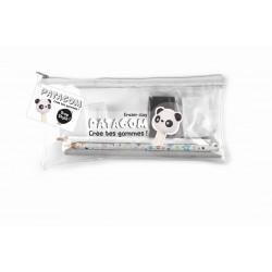 PENCIL CASE PATAGOM TRANSPARENT - PANDA