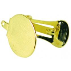 Basic clip-on earring 20mm - Gold (1 pair)