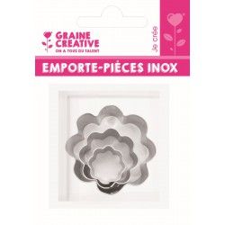 Mini inox cutters - Flower (3 pcs)