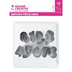 1 TO 9 NUMBERS INOX CUTTERS