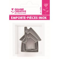 3 MINI INOX CUTTERS : HOUSES