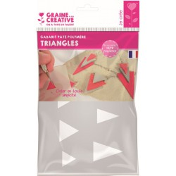 TEMPLATE A5 FOR POLYMER CLAY : TRIANGLE