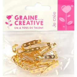 PACK OF 20 GOLD PINS 25 mm