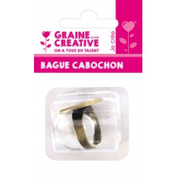 ROUND RING 20 MM WITH GLASS GEM BRONZE - BLISTER CARD GRAINE CREATIVE