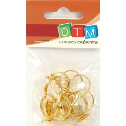 PACK OF 10 GOLD RING BASES WITH CLIPS