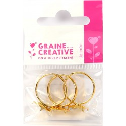 PACK OF 3 GOLD RING BASES WITH CLIPS
