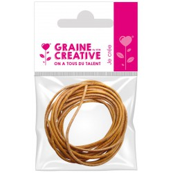 2 LIGHT BROWN LEATHER-STYLE LACES - 1M (DIAM 1.5mm)