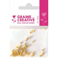 PACK OF 60 GOLD CRIMP BEADS 2 MM