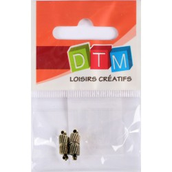 PACK OF 2 BRONZE MAGNETIC CLASPS 5x15 MM