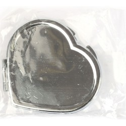 METAL MIRROR TO BE DECORATED - HEART SHAPED 60 x 55 mm