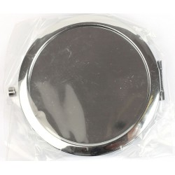 METAL COMPACT MIRROR TO BE DECORATED - ROUND Ø 72 mm