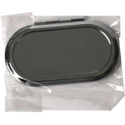 METAL COMPACT MIRROR TO BE DECORATED - OVAL 85*50mm