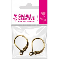 PAIR OF HOOKS FOR  BUCKLE EAR - OLD GOLD