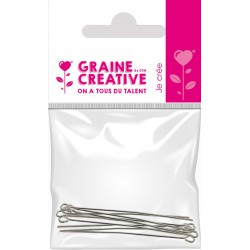BAG OF 10 JUNCTION NAILS  WITH HEAD - SILVER