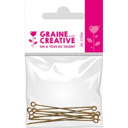 BAG OF 10 JUNCTION NAILS WITH HEAD - OLD GOLD