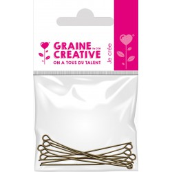 BAG OF 10 JUNCTION NAILS WITH HEAD - BRONZE