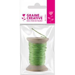 WAX THREAD GREEN 5M/WOOD SPOOL