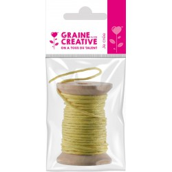WAX THREAD YELLOW 5M/WOOD SPOOL