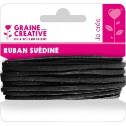 SUEDINE RIBBON- 5M- BLACK