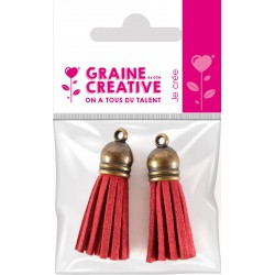 SET OF 2 TASSELS BRONZE- RED 4CM