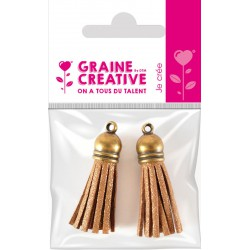 SET OF 2 TASSELS BRONZE- GOLD 4CM